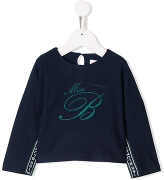 Miss Blumarine Logo Tape Relaxed-Fit Sweatshirt