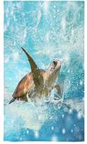 Sea Turtle Towel New Year/Christmas Gift Cute Sea Turtle In The Clean Water Thin Soft Towel(One-sided Printing)
