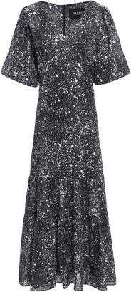 Paper London Montpellier Gathered Printed Crepe Maxi Dress