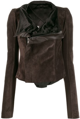 Rick Owens zipped fitted biker jacket