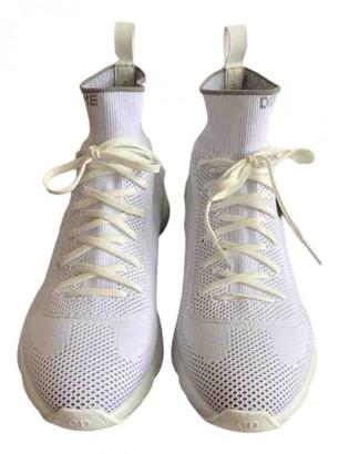 Christian Dior White Cloth Trainers