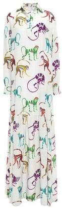 Stella Jean Silk-georgette Maxi Dress