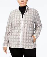 Karen Scott Plus Size Zeroproof Fleece Active Jacket, Created for Macy's