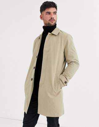 Burton Menswear mac in camel-Tan