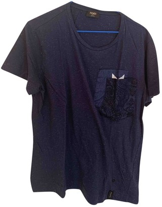Fendi Blue Cotton T-shirts