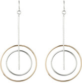 David Jones Double Hoop Drop Earring