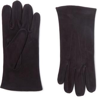 Anderson & Sheppard + Camoshita Suede Gloves - Blue