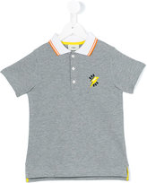 Fendi contrast collar polo shirt - kids - Cotton - 2 yrs
