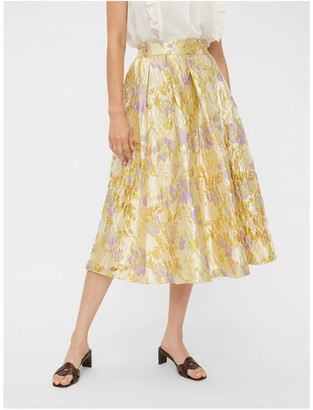 Y.A.S Japana Jacquard Skirt Yellow