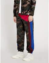 Valentino Side-stripe camouflage-print shell jogging bottoms