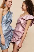 Topshop **one shoulder textured mini dress