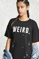 Forever 21 FOREVER 21+ Weird Graphic Distressed Tee