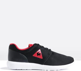 Le Coq Sportif Mens Dynacomf GS Summer Mesh Sneakers in Black Vintage Red