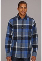 The North Face L/S Crowther Flannel (China Blue) - Apparel
