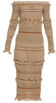 Peter Pilotto Atmos smocked knit midi dress