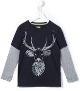Armani Junior stag print T-shirt
