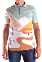 Daniele Alessandrini Men's Multicolor Cotton Polo Shirt.