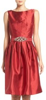 Eliza J Taffeta Fit & Flare Dress (Regular & Petite)