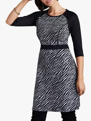 Yumi Zebra Print Dress, Black