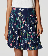 LOFT Valley Floral Pleated Skirt