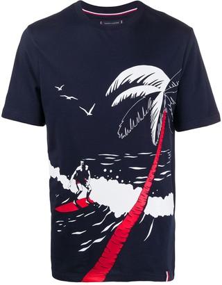 Tommy Hilfiger beach print T-shirt