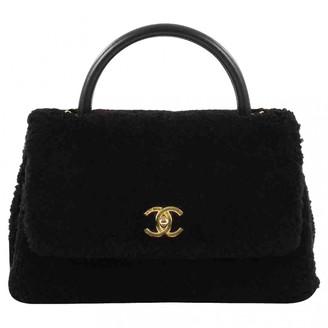 Chanel Coco Handle Black Shearling Handbags
