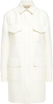 Valentino Cotton And Silk-blend Twill Coat