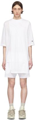 Rick Owens White Champion Edition Toga T-Shirt