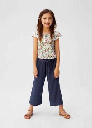 MANGO Belt culottes trousers dark navy - 10 - Kids