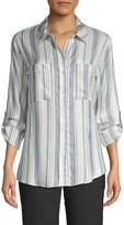 Sanctuary Striped Button-Down Shirt