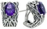 Effy Jewelry Effy 925 Lagoon Amethyst Earrings, 3.04 TCW