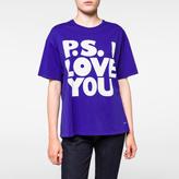 Paul Smith Women's Indigo 'P.S. I Love You' Print T-Shirt