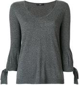 Steffen Schraut tied cuffs knitted blouse - women - Nylon/Polyester/Viscose/Cashmere - 34