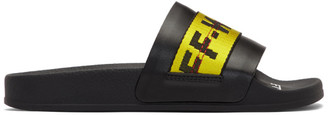 Off-White Black and Yellow Industrial Slides