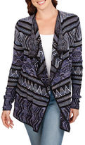 Lucky Brand Open-Front Cotton Blend Cardigan