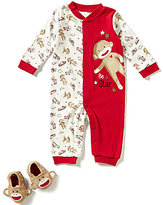Baby Starters Baby Boys 3-12 Months Sock Monkey Coverall and Booties Set