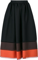 Fendi stripe panel full skirt