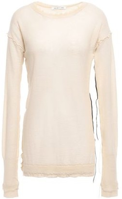 Helmut Lang Distressed Cashmere Top