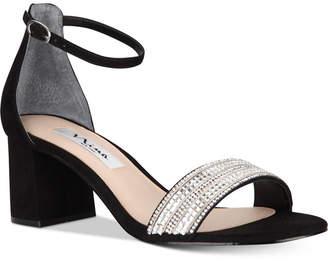 Nina Elenora Evening Block-Heel Sandals Women Shoes