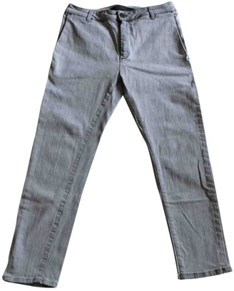 Superfine Grey Denim - Jeans Trousers for Women