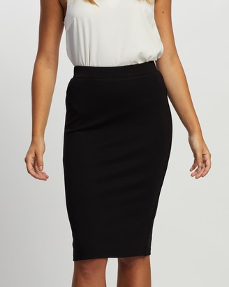 Atmos & Here Atmos&Here - Women's Black Pencil skirts - Ponte Pencil Skirt - Size 6 at The Iconic