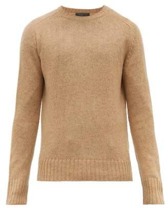 Prada Ribbed Trim Virgin Wool Sweater - Mens - Camel
