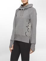 Calvin Klein Performance Cowl Neck Logo Sweatshirt