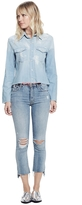 Mother Insider Crop Step Fray Jeans In Chatterbox