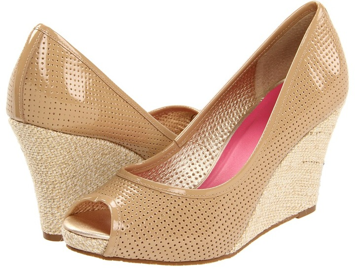 Lilly Pulitzer Resort Chic Wedge Perforated (Sand) - Footwear