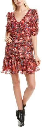 Tanya Taylor Pansy Silk-Blend Mini Dress