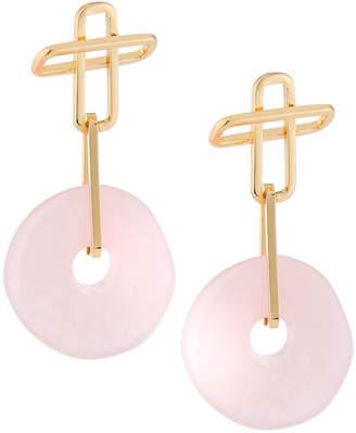 Dannijo Earhardt Resin Drop Earrings, Pink