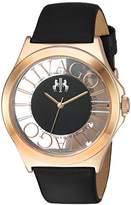 Jivago Women's 'Fun' Swiss Quartz Stainless Steel Casual Watch, Color:Black (Model: JV8431)