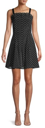 Rebecca Taylor Dotted Fit--Flare Dress