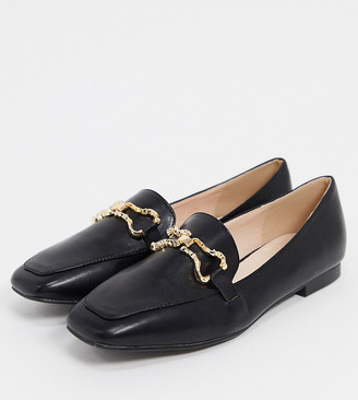 Raid Wide Fit Clareta loafers with snaffle in black